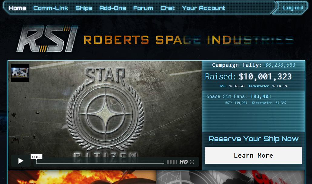 [Обновлено] -= Star Citizen / Squadron 42. $10 миллионов =-  Пока Канобу и другие игросайты фапали на трансляции Е3, ... - Изображение 1