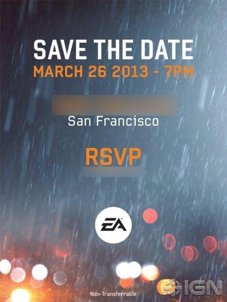 Портал IGN получил приглашение от Electronic Arts на мероприятие в рамках выставки Games Developer`s Conference. Виз ... - Изображение 1