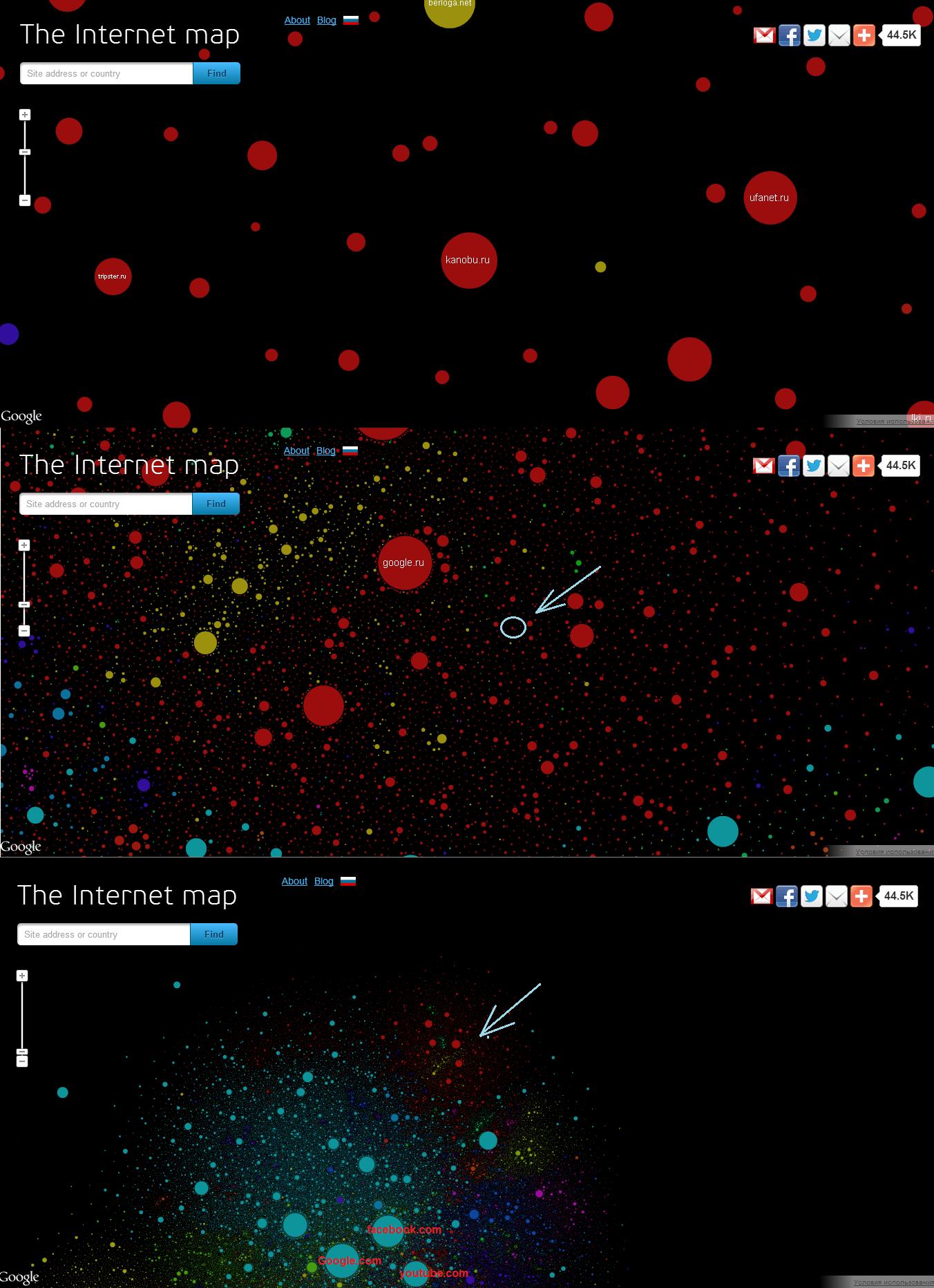 Расположение сайта kanobu.ru на мировой карте интернета =3 - Изображение 1