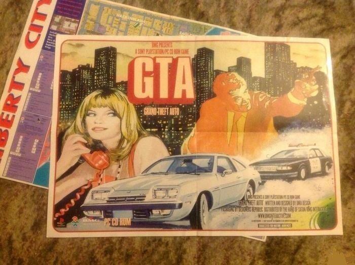 Первый промо-постер к самой первой GTA - Изображение 1