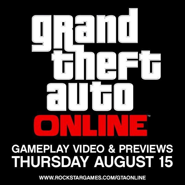 На сайте Rockstar опубликовано короткое сообщение, что 15 августа компания анонсирует GTA Online —многопользовательс ... - Изображение 1
