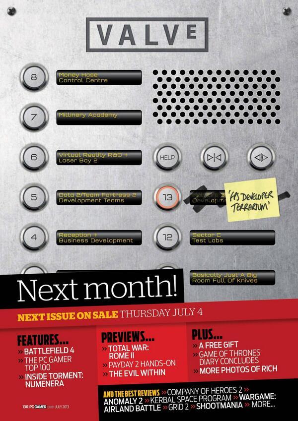 Обложка июльского номера PC Gamer #valve #hl3  - Изображение 1