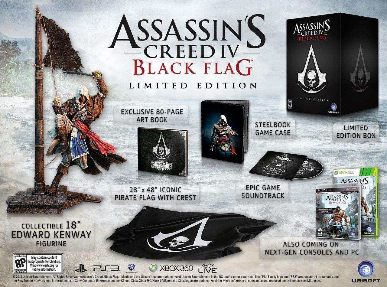 Анонсировано коллекционное издание Assassin's Creed 4: Black Flag Limited Edition .  Коллекционное издание будет дос ... - Изображение 1
