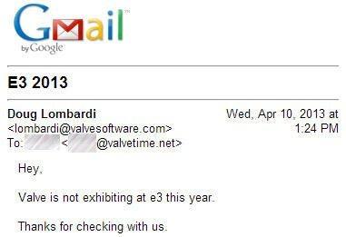 Valve не поедет на E3 в этом году. Наверное Гейб только сейчас понял что в названии выставки стоит неподходящее числ .... - Изображение 1