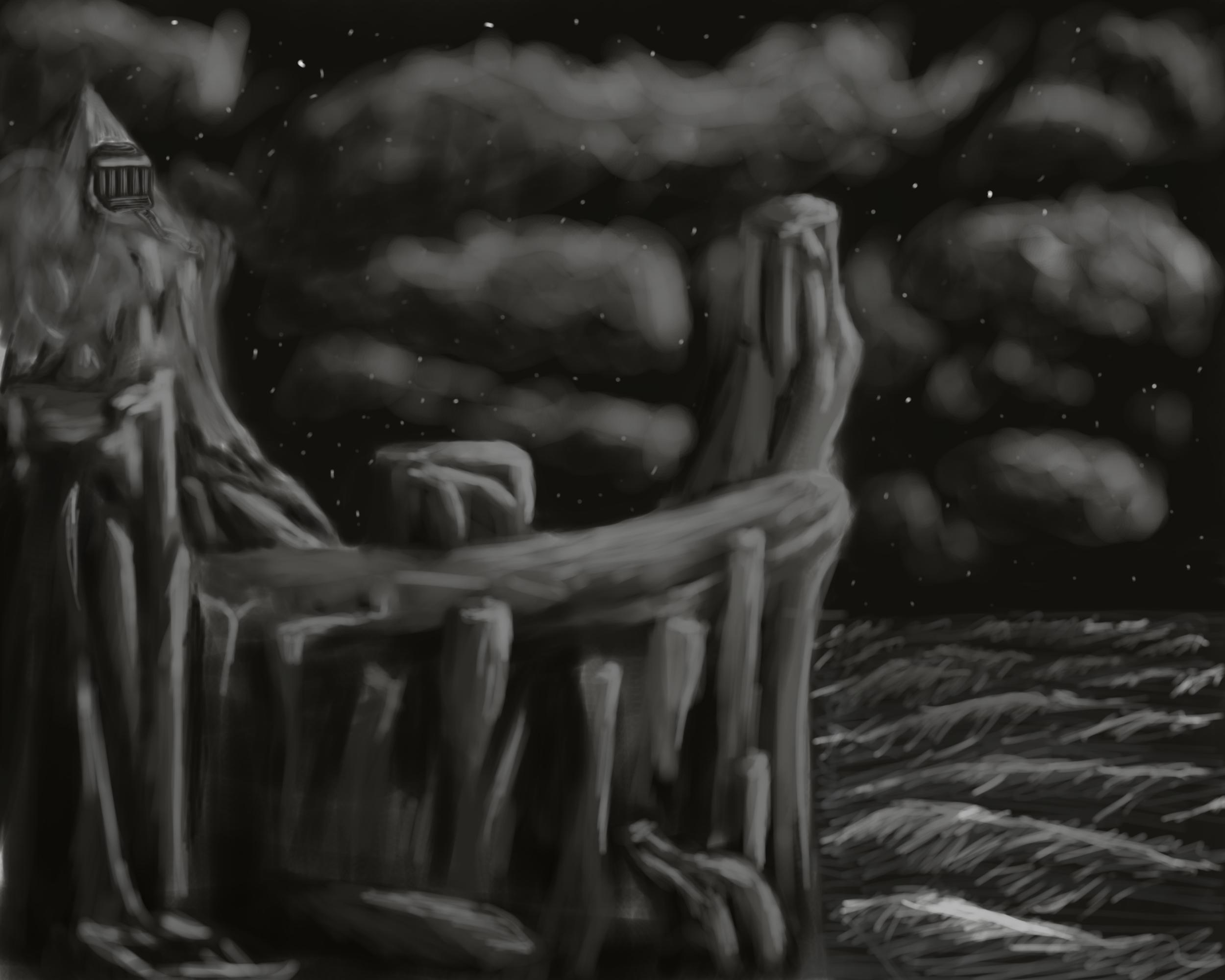 Попытался нарисовать пейзаж. Получилось не то что я себе представлял :D - Изображение 1