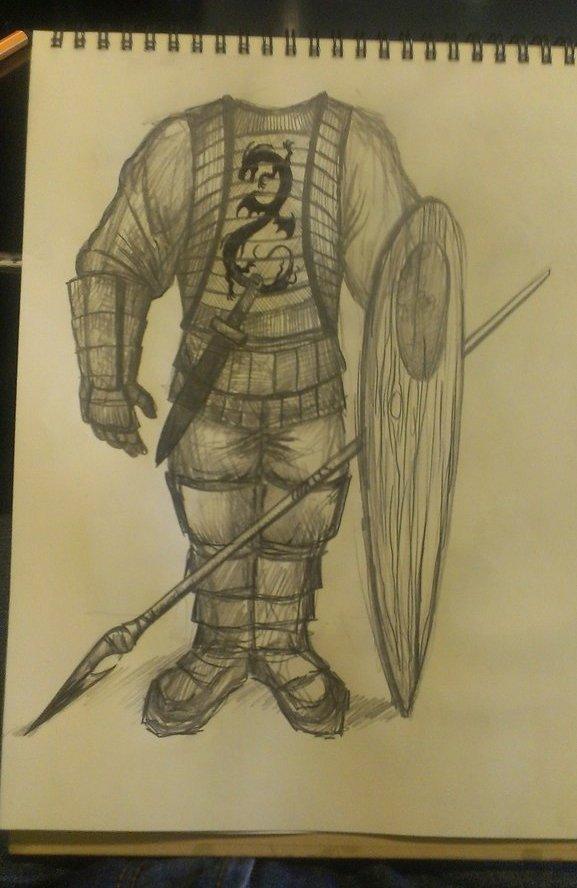 Сначала всё пошло с этого незамысловатого граффити, потом я решил зарисовать этого персонажа и птицу, дабы в будущем ... - Изображение 3
