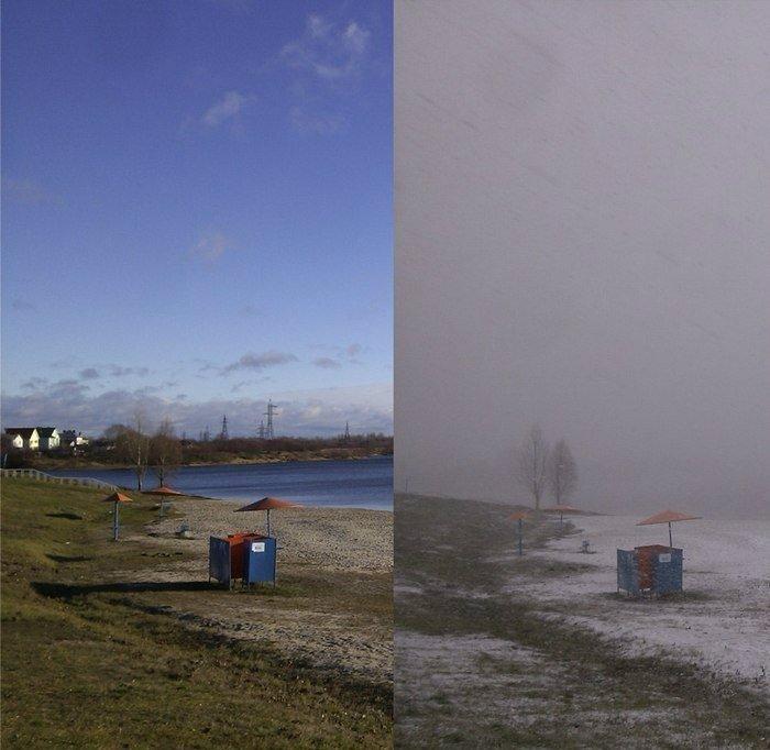 Зима в Гомеле: разница фото 1 час - Изображение 1