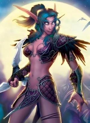 лесби темная эльфийка