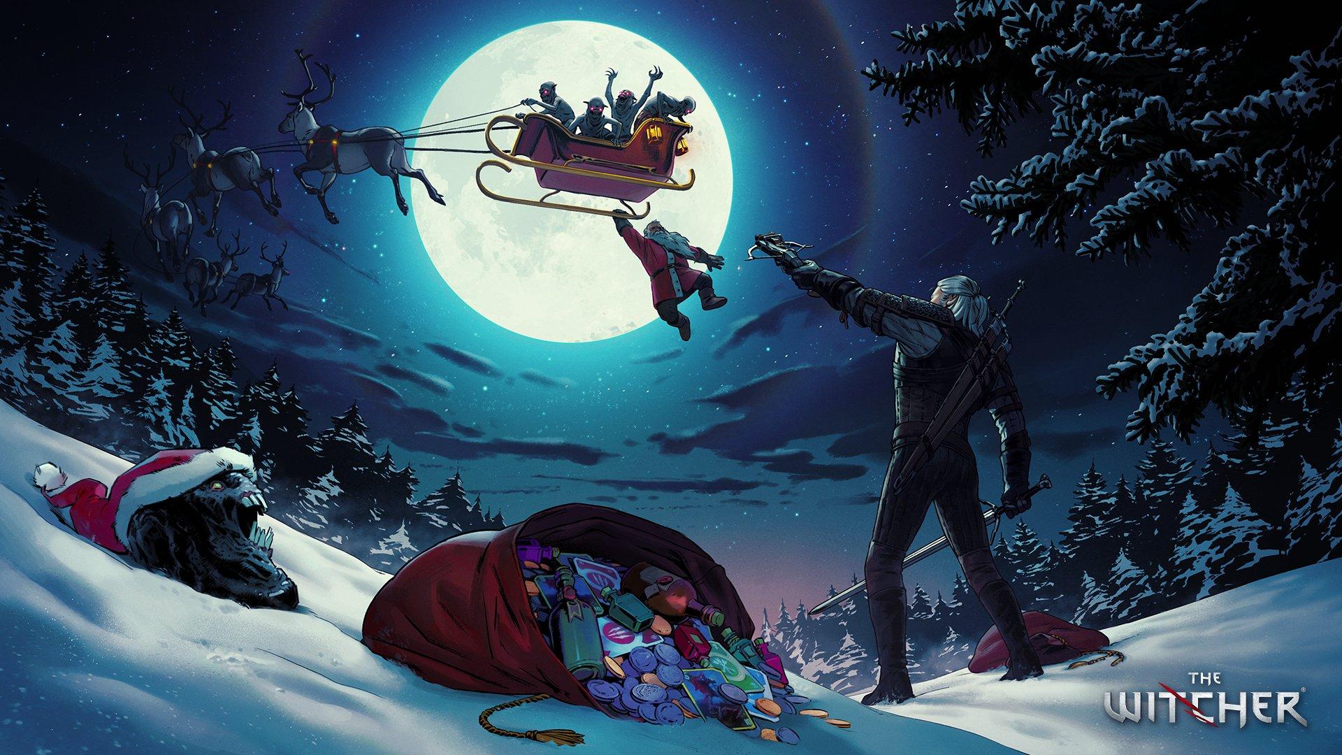 Издатели иразработчики поздравляют игроков сНовым годом иРождеством. Подборка открыток