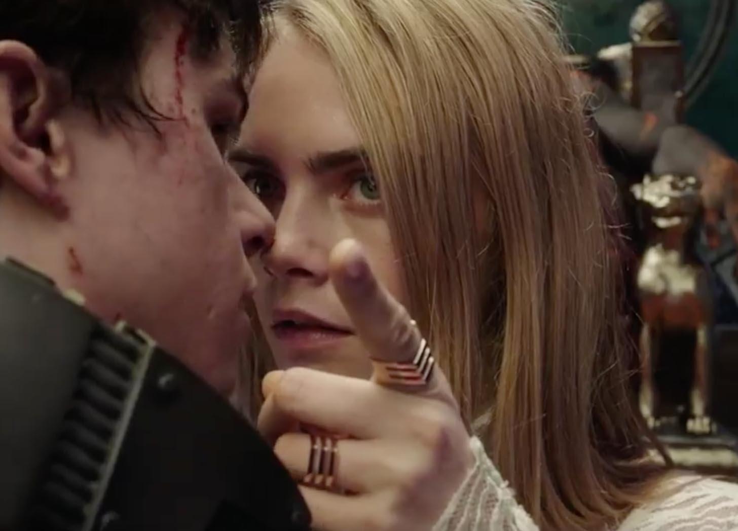 Кара Делевинь затмила звезды в первом трейлере «Валериана»