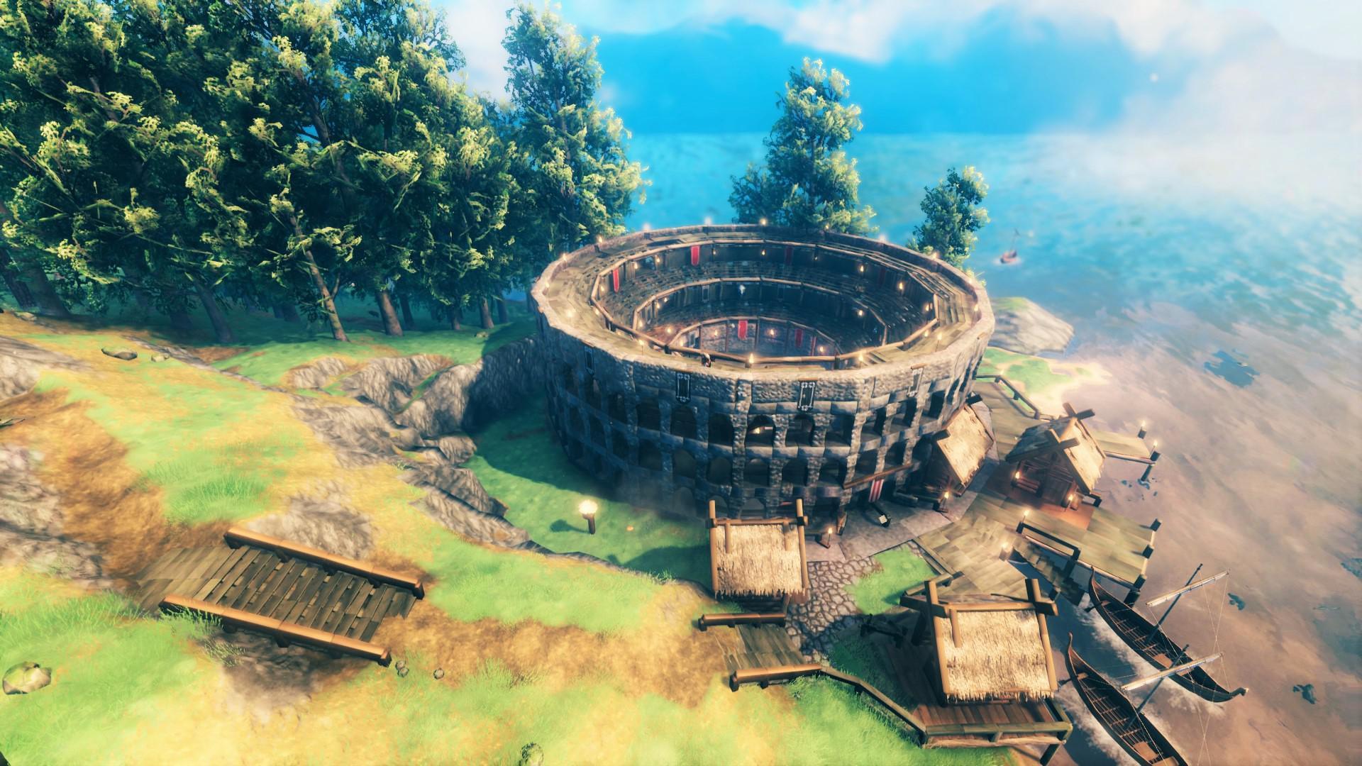 В Valheim построили Колизей и даже провели «гладиаторские» бои