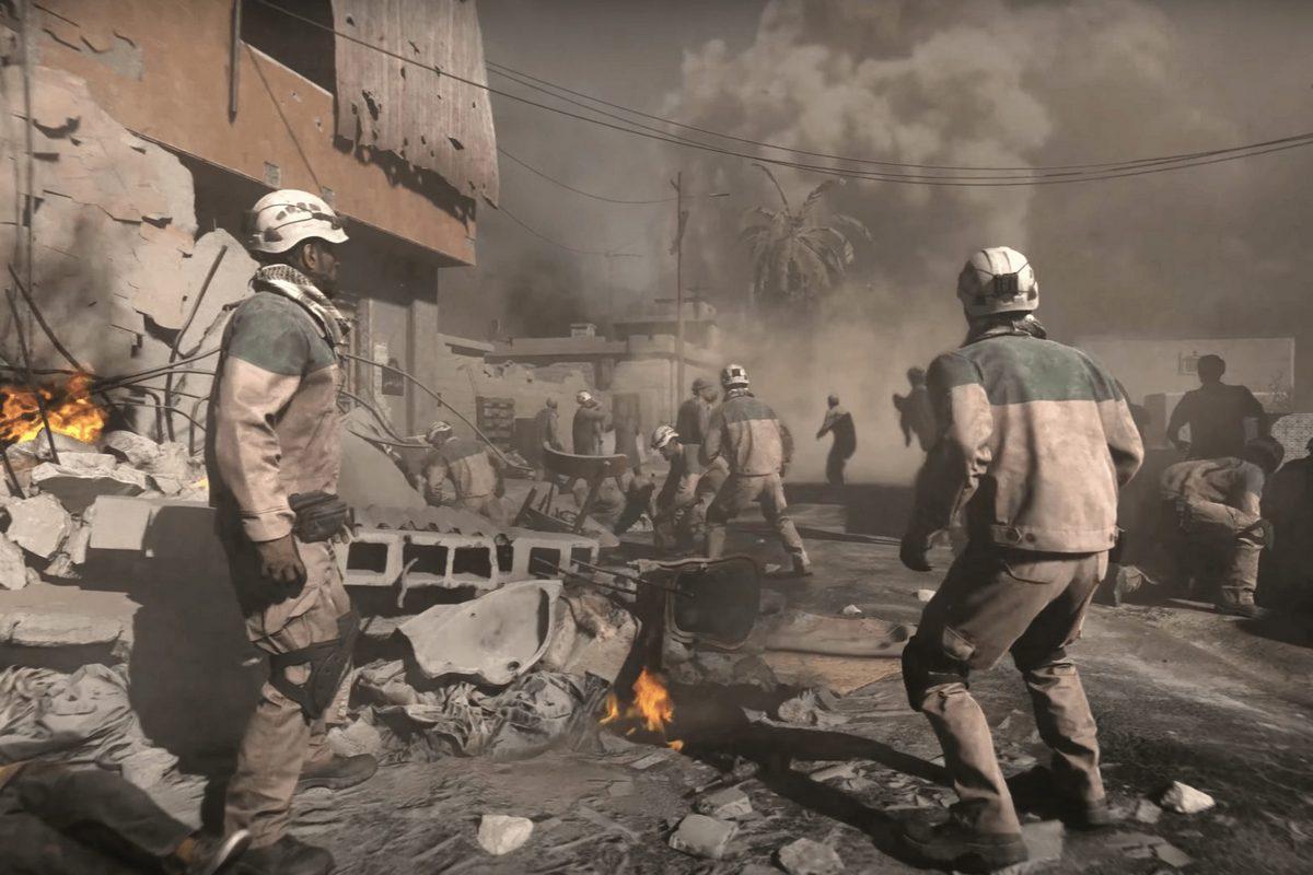 Врусской версии Call ofDuty: Modern Warfare Белые каски заменили назеленые