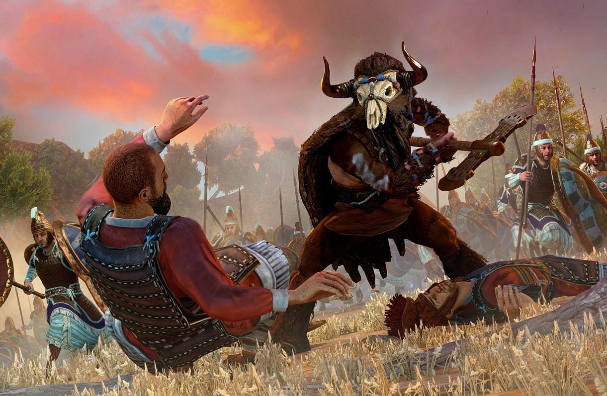 Ахилл иМинотавр— первый геймплейный ролик Total War: Troy