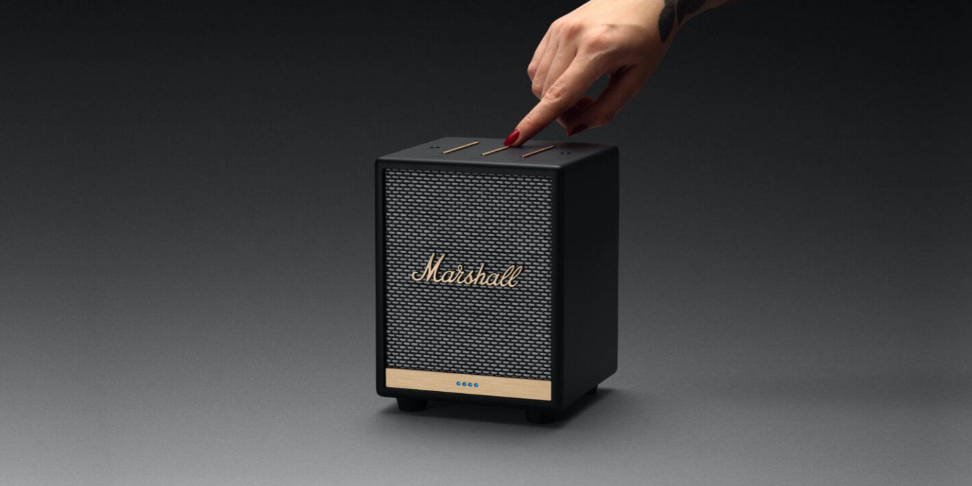 Смарт-колонка Marshall Uxbridge Voice Speaker стилизована под гитарный усилитель