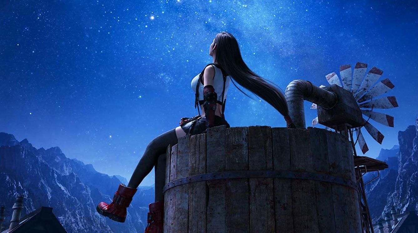 Бесплатная тема для PS4: это Тифа изFinal Fantasy VII Remake