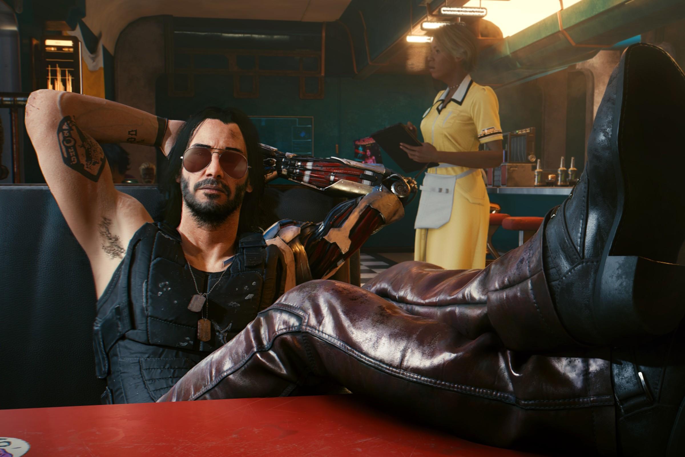 Каким был бы фильм по Cyberpunk 2077? Фанат игры создал трейлер с Киану Ривзом