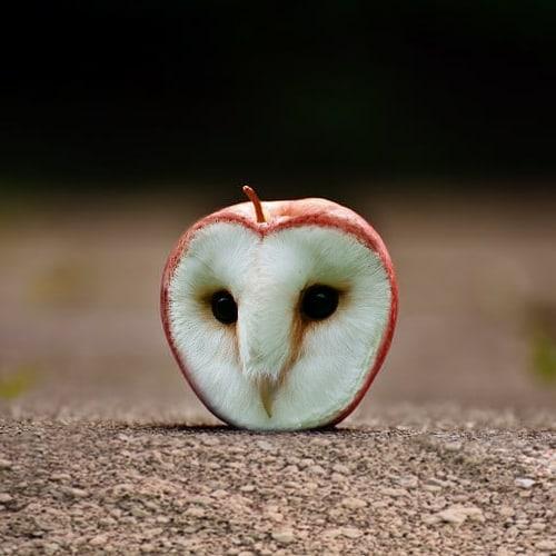Сова-яблоко икот-гора: энтузиаст делает странные коллажи сживотными