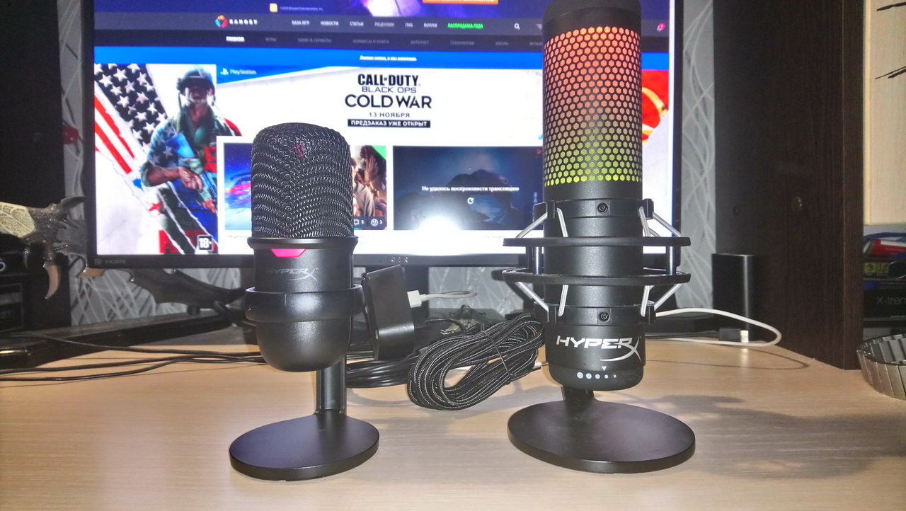 Четко игромко: обзор микрофонов HyperX QuadCast SиSoloCast