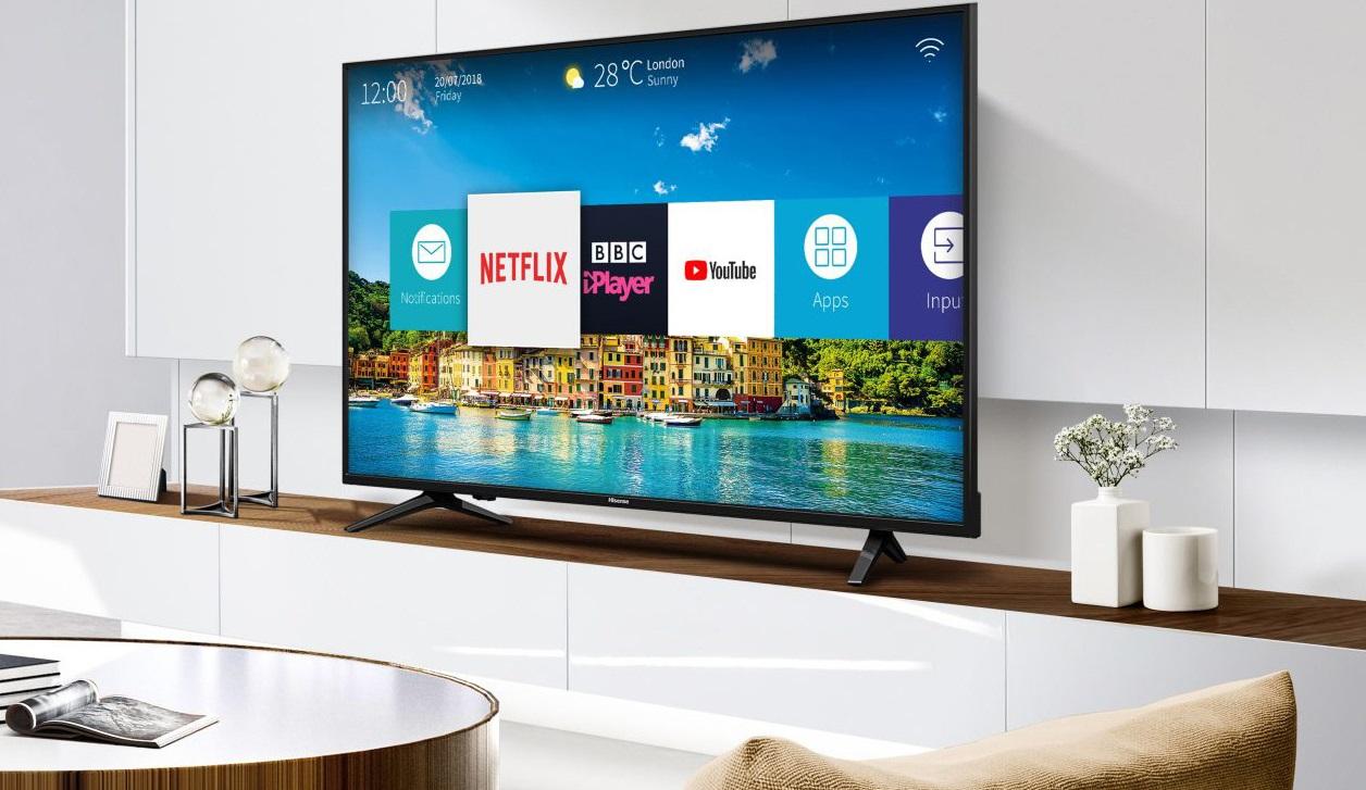 Hisense представила линейку бюджетных «умных» телевизоров сдиагоналями от32 до55 дюймов