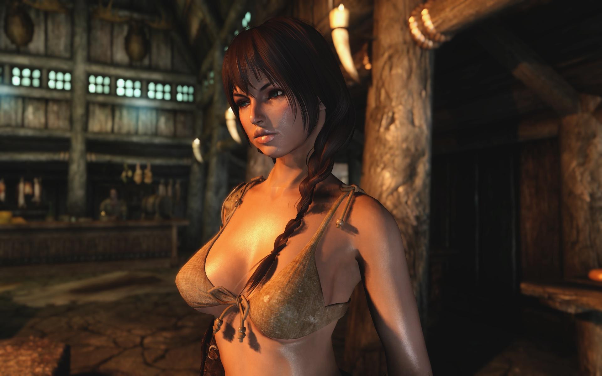 Skyrim обзавелся модом, который улучшает голые модели героинь
