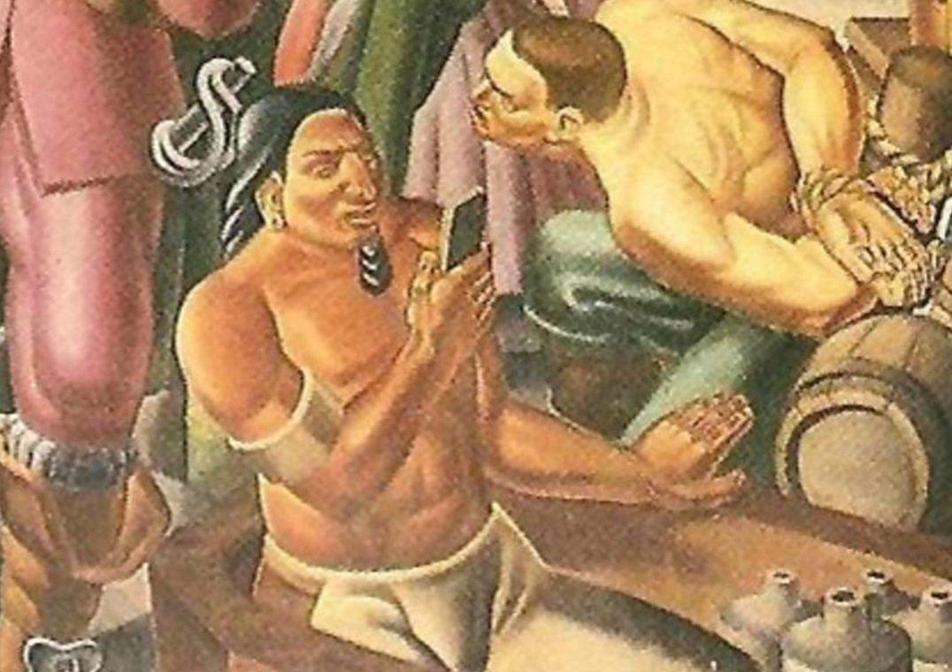 Накартине 1937 года вруках индейца «обнаружили» iPhone