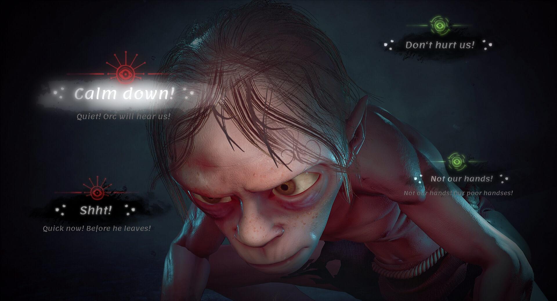 Голлум ижуткие пауки напервых скриншотах Lord ofthe Rings: Gollum