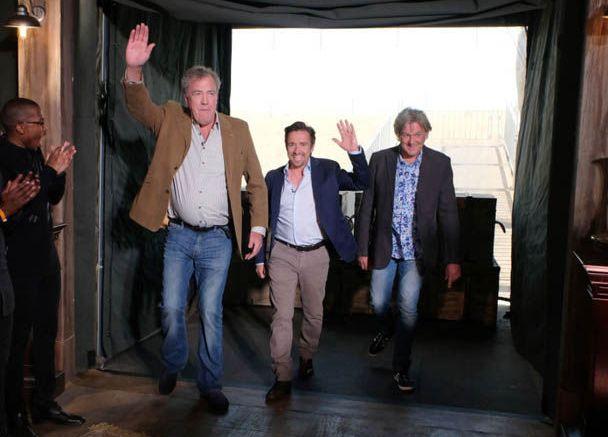Кларксон, Хаммонд и Мэй забавляются на фото со съемок The Grand Tour