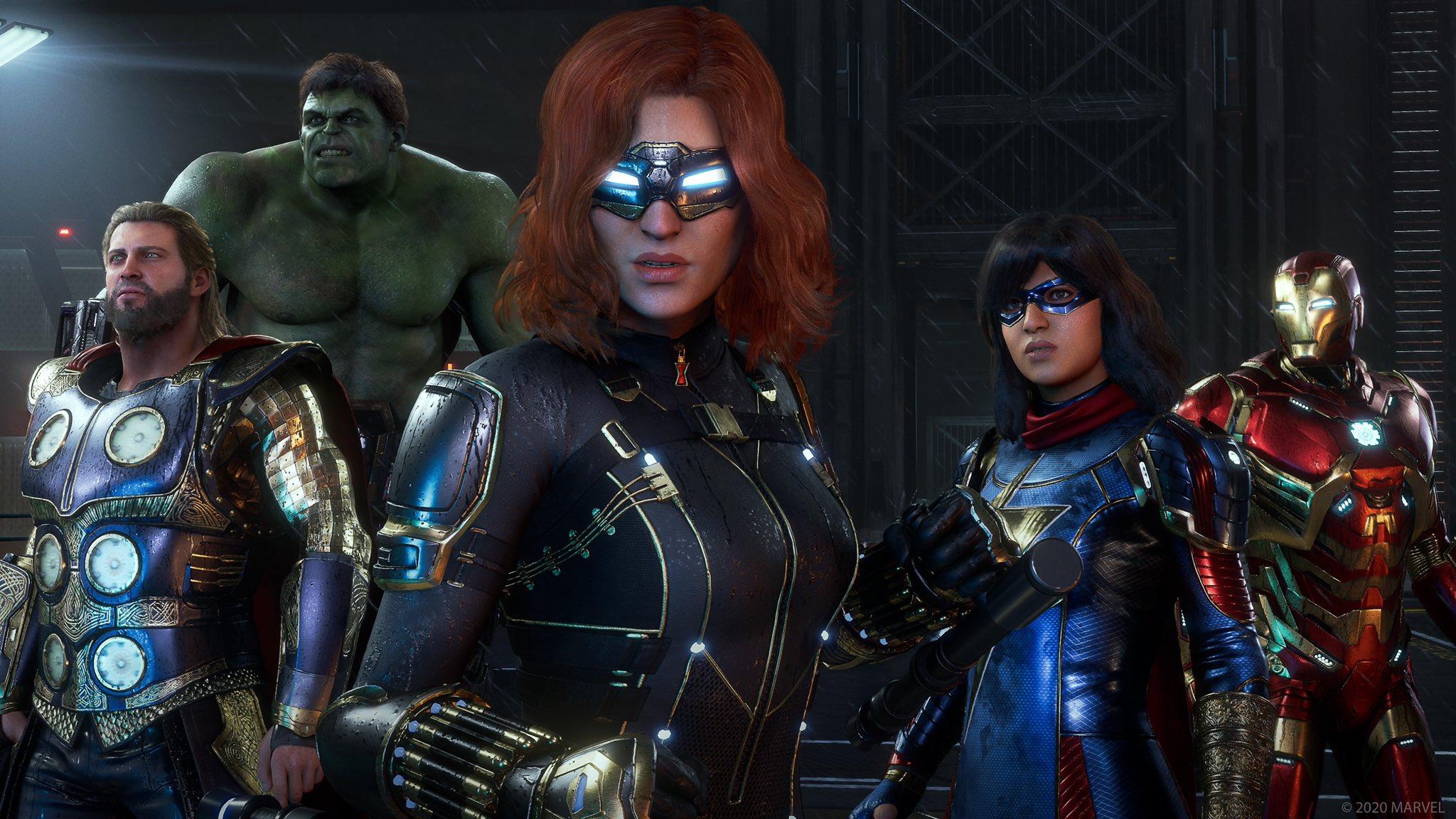 Как выглядят Мстители вновой игре поMarvel? Кажется, так себе