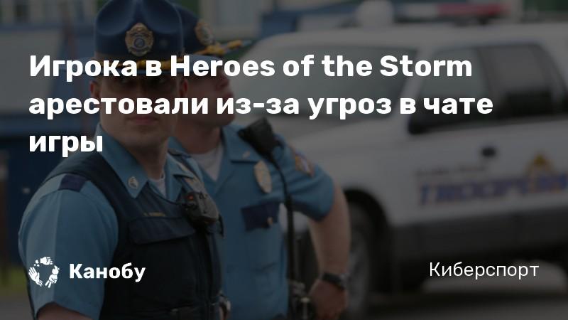 Игрока в Heroes of the Storm арестовали из-за угроз в чате игры
