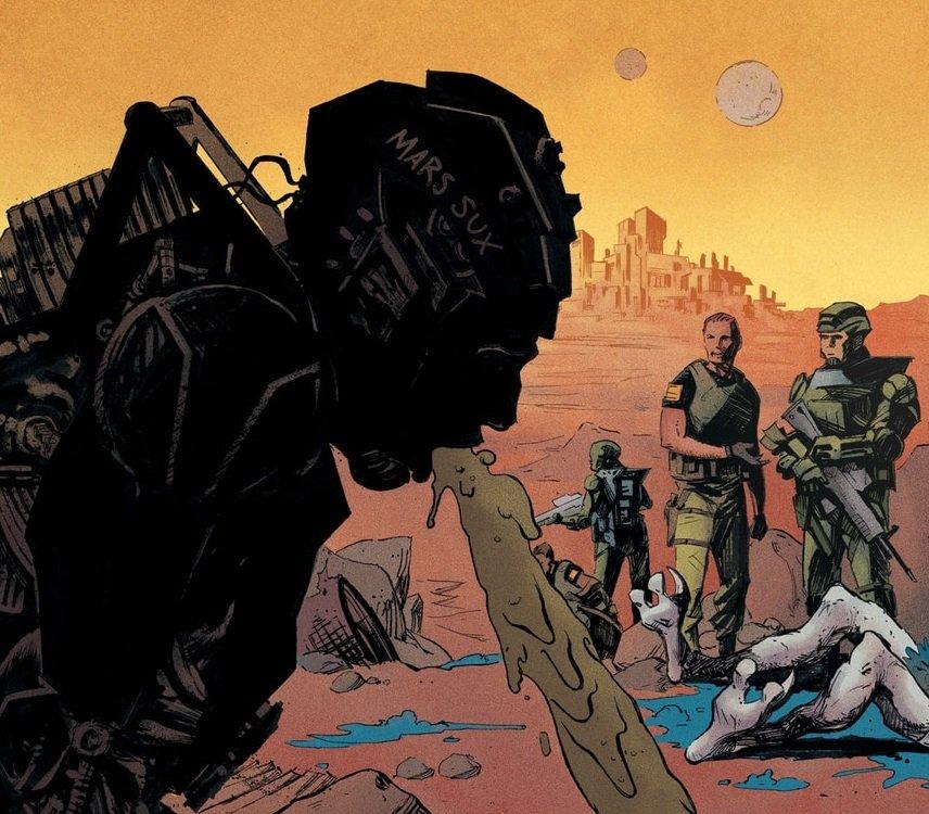 Соавтор «Арчера» напишет сатирический комикс про морпехов на Марсе