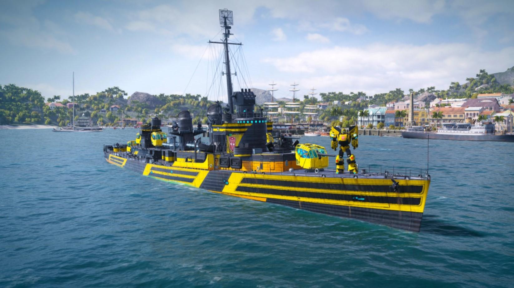 Трансформеры попали в World of Warships