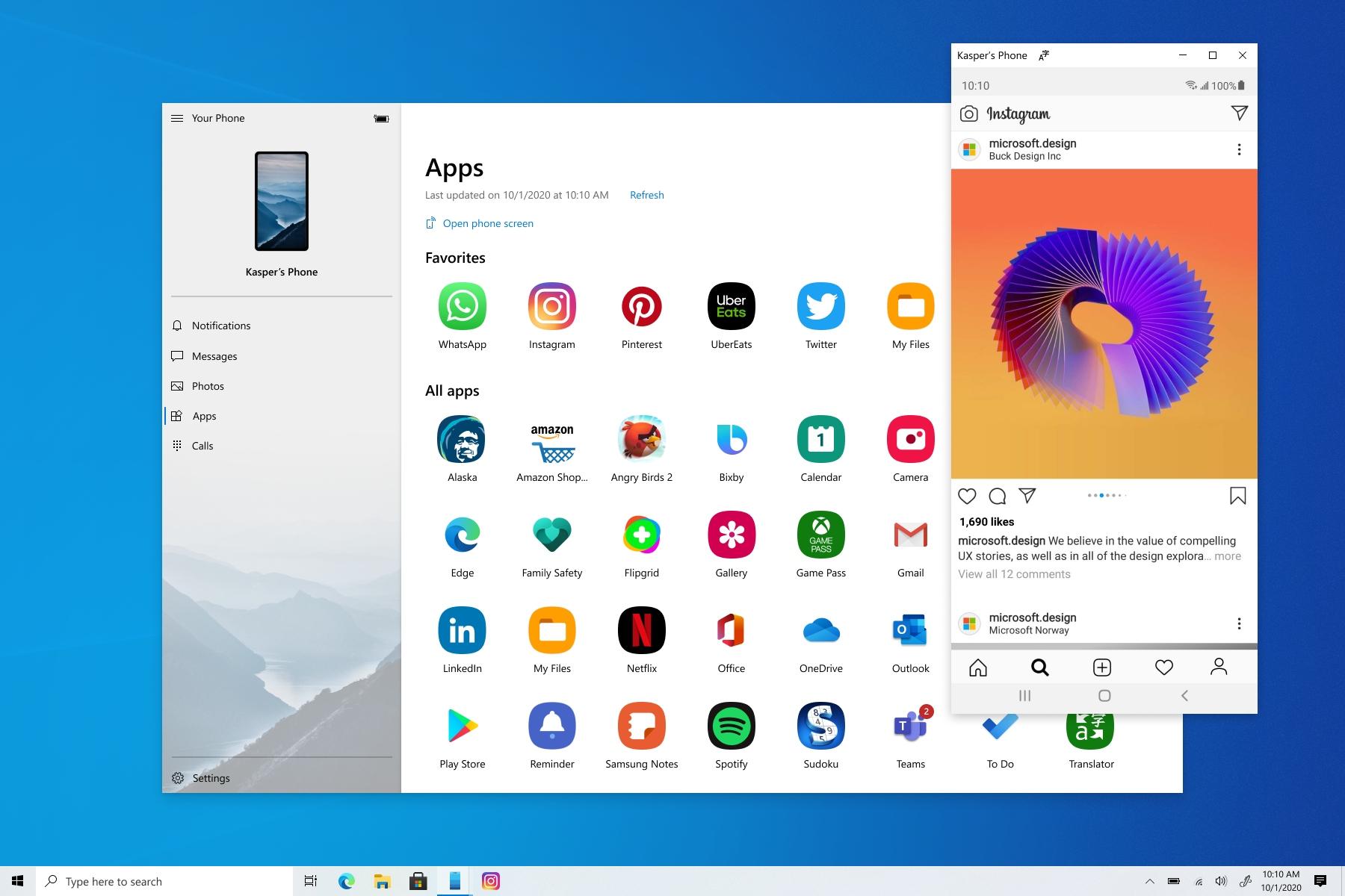 Теперь наWindows 10 можно запускать иработать сAndroid-приложениями сосмартфона