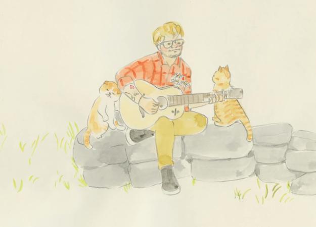 Эд Ширан выпустил клип на песню Supermarket Flowers. Его нарисовала мангака!