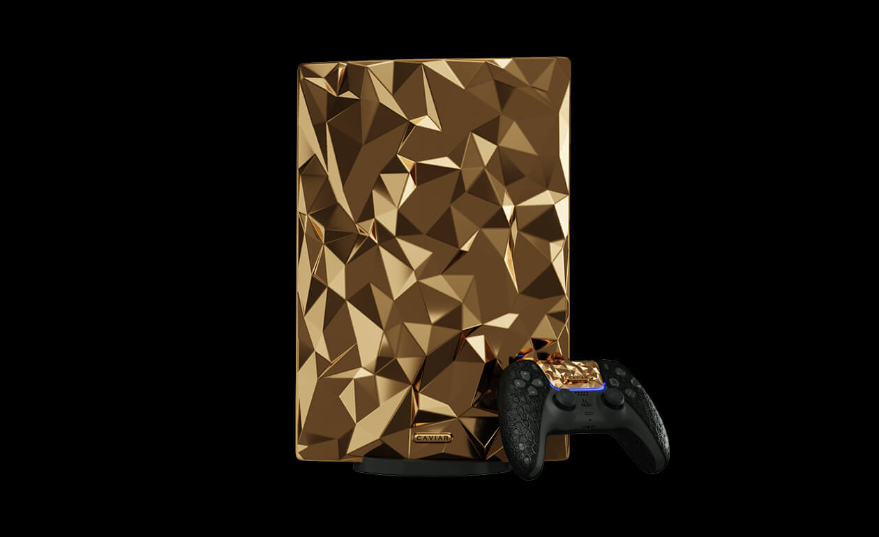 Caviar выпустила золотую PlayStation 5 за38 млн рублей. Еще есть кожаный икарбоновый варианты