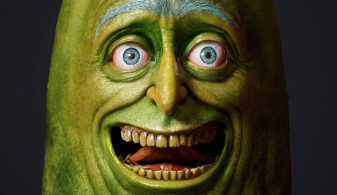 Художник нарисовал реалистичного Огурчика Рика. Это ваш оживший ночной кошмар
