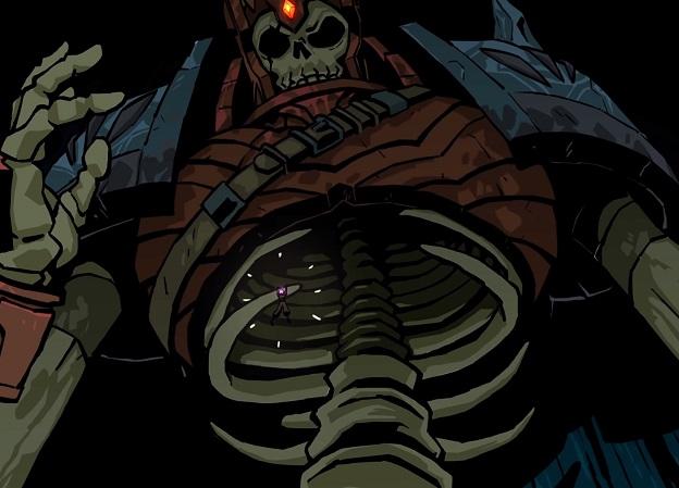 Ванимационном трейлере для дополнения Dead Cells герой сталкивается соскелетом-гигантом