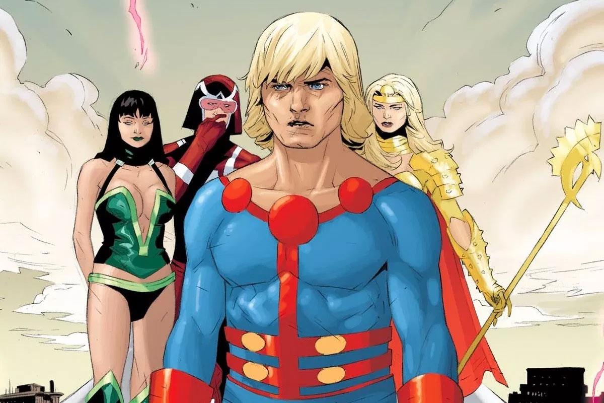 Всети появился промо-арт «Вечных» скостюмами супергероев