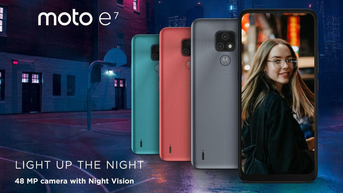 Представлен доступный смартфон Motorola Moto E7 с«чистым» Android