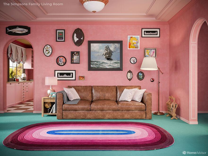 Дизайнеры показали, какбы выглядел дом Симпсонов вфильме Уэса Андерсона