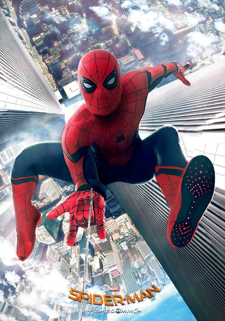 Спайди висит под вертолетом на новых фото и видео «Человека-паука»