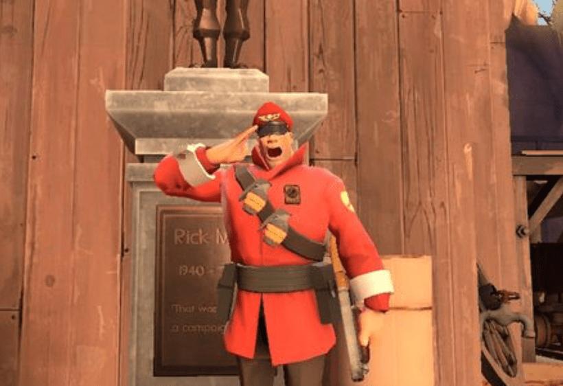 Как Valve отдала дань уважения Рику Мэю изTeam Fortress2