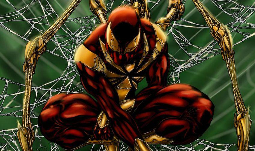 На концепте «Возвращения домой» у Питера Паркера был классический костюм Железного Человека-паука