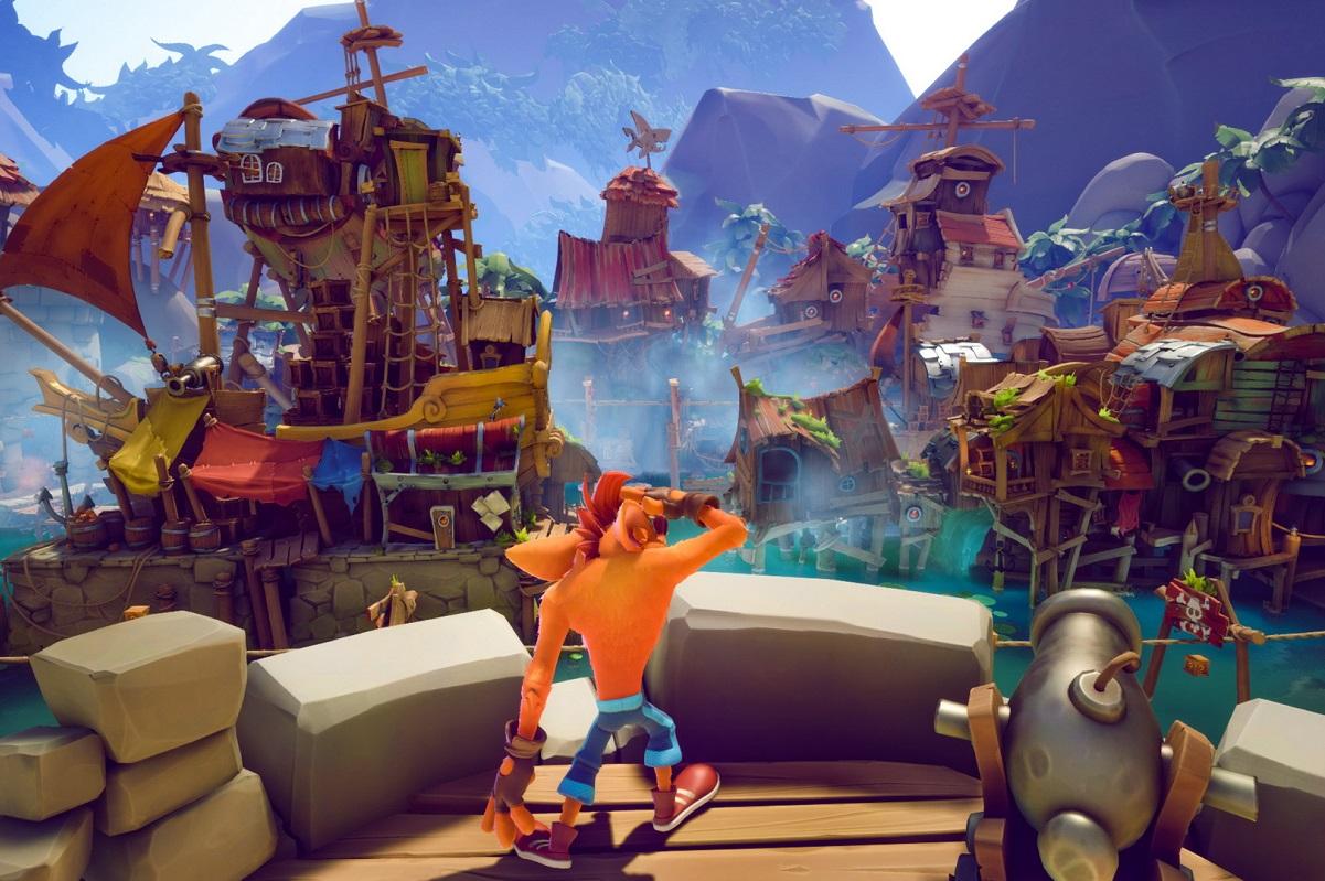Новый геймплей Crash Bandicoot4. Крэш попадает кпиратам