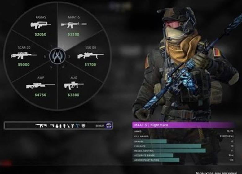 Игрок в CS:GO предложил разбавить меню покупки оружия статистикой