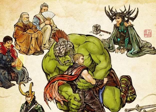 Верховный маг Доктор Стрэндж появился нановом постере фильма «Тор: Рагнарек»