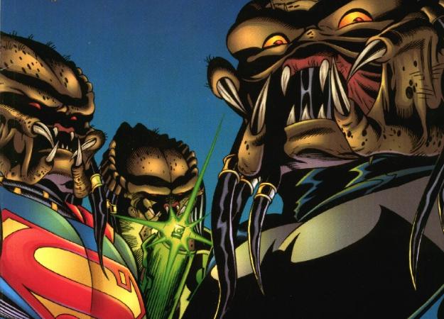 Хищник против Бэтмена? Вспоминаем самые крутые инеожиданные кроссоверы синопланетным охотником