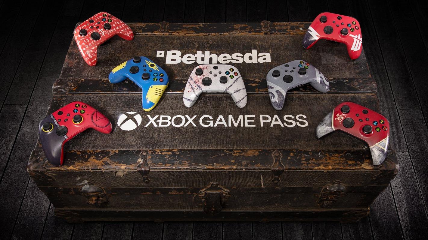 TESO, DOOM, Fallout, Dishonored и другие: Microsoft разыграет 7 геймпадов Xbox в стиле игр Bethesda