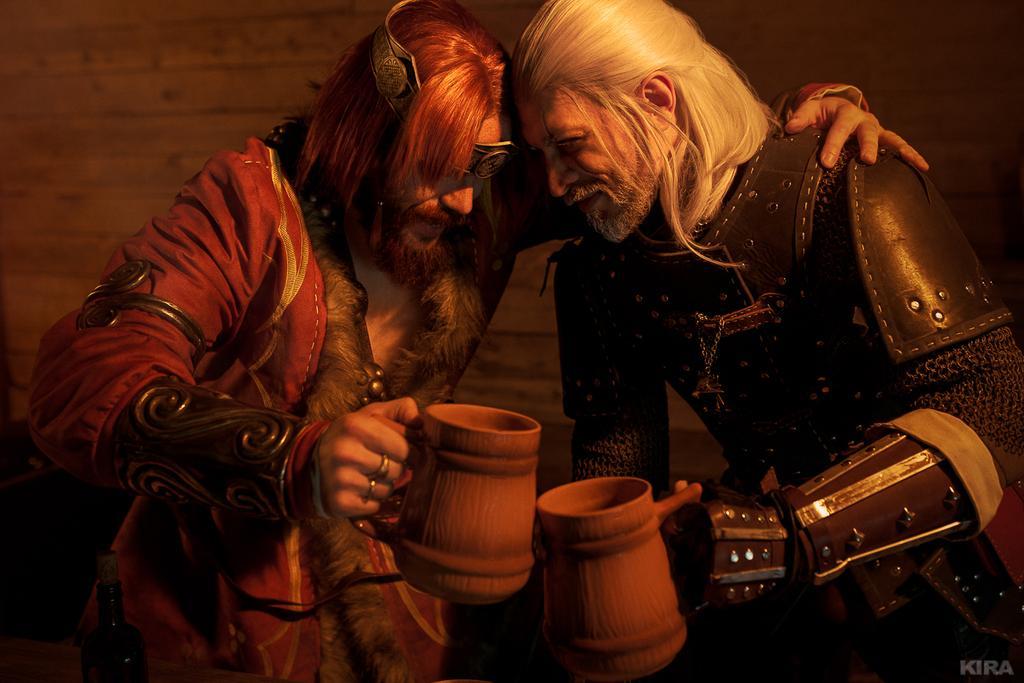 Русские пьют встиле «Ведьмака»: любуемся душевным косплеем