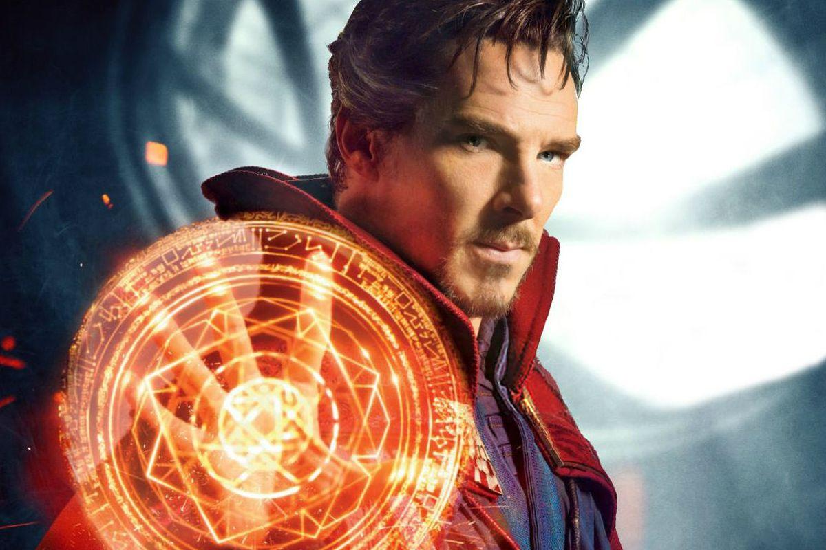 Доктор Стрэндж посылает Таноса впутешествие наконцепт-арте «Войны бесконечности»