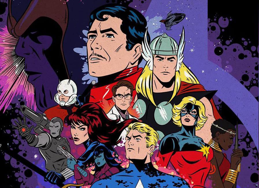 Художник показал постеры фильмов Marvel сгероями изкомиксов. Выглядит круто